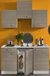 Singleküche TOLEDO - Vario 1 - mit Glaskeramikkochfeld - Breite 150 cm - Pinie