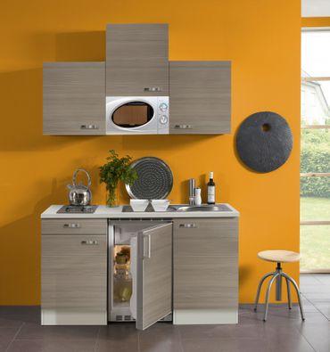 Singleküche TOLEDO - Vario 1 - mit Mikrowelle - Breite 150 cm - Pinie Nougat