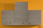 Singleküche TOLEDO - Vario 2 - mit Glaskeramikkochfeld - Breite 150 cm - Pinie