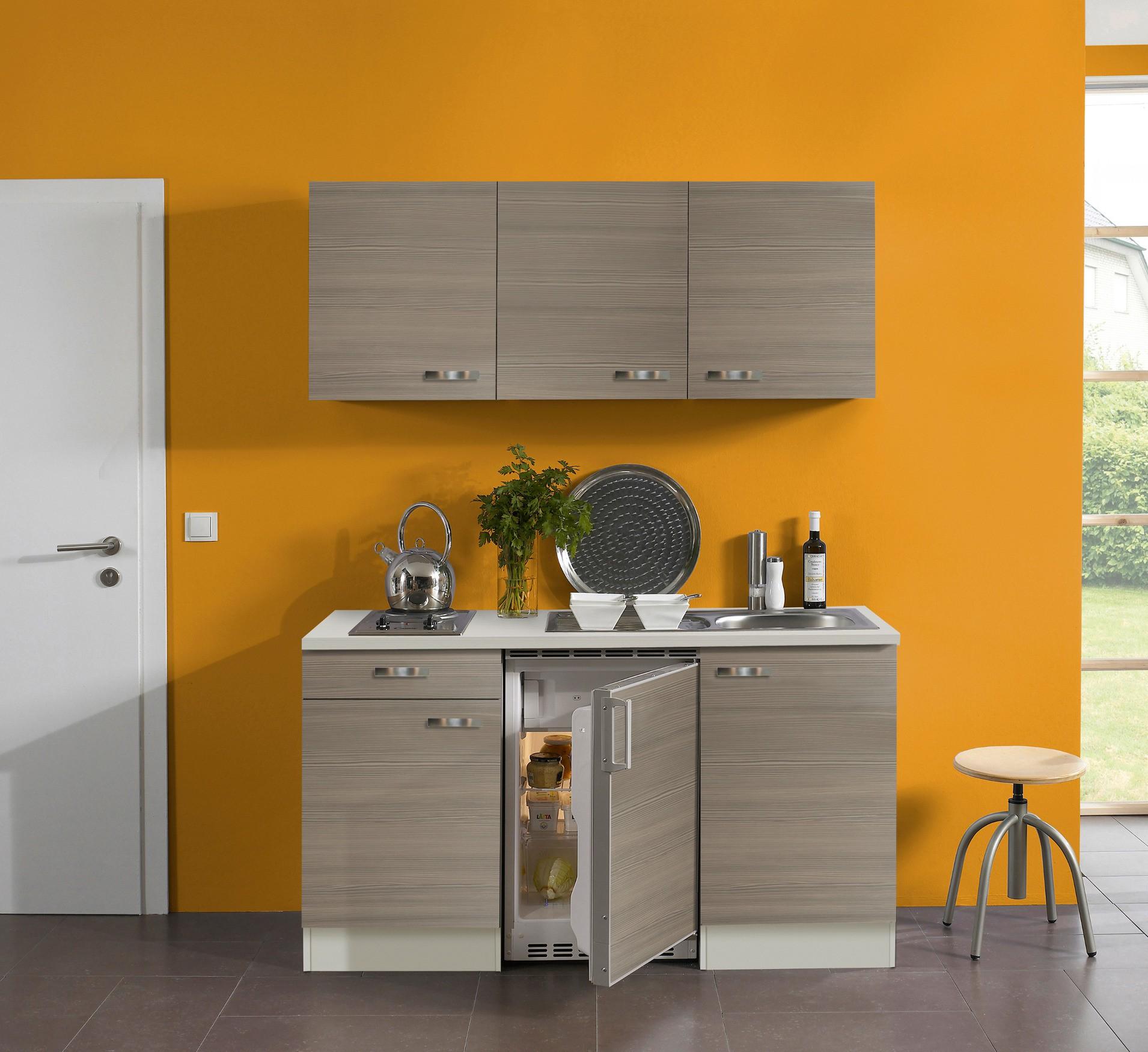 singlek che toledo mit elektro kochfeld 8 teilig breite 150 cm pinie k che singlek chen. Black Bedroom Furniture Sets. Home Design Ideas