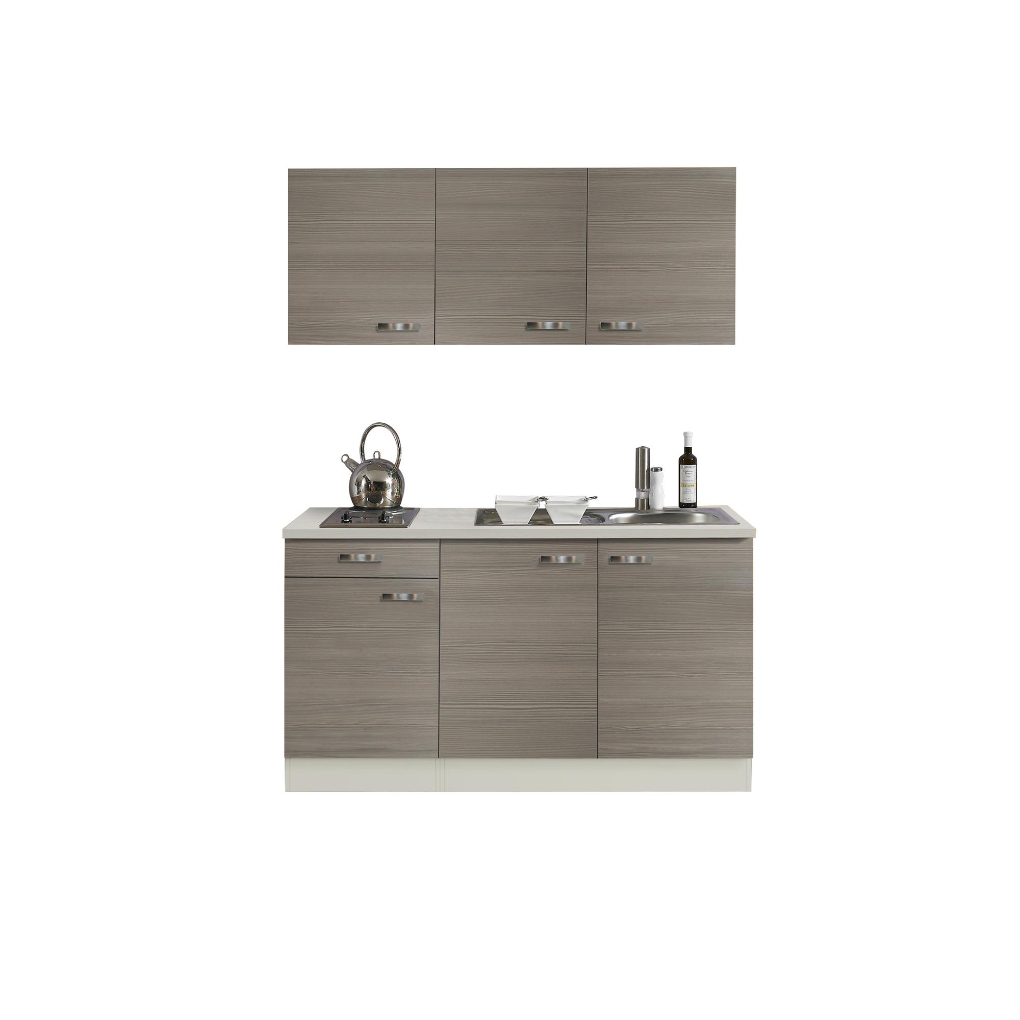 Singleküche mit Spüle Miniküche Kochplatte Mini Küchenzeile Küche ...