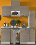 Singleküche TOLEDO - Vario 1 - mit Mikrowelle - Breite 180 cm - Pinie Nougat