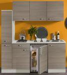 Singleküche TOLEDO - Glaskeramik-Kochfeld - 9-teilig - Breite 180 cm - Pinie