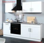 Küchenzeile VAREL - Küchen-Leerblock - Breite 210 cm - Hochglanz Weiß