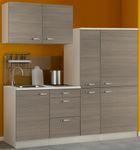 Singleküche TOLEDO - mit Glaskeramik-Kochfeld - Breite 190 cm - Pinie Nougat