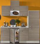 Singleküche TOLEDO - Vario 1 - mit Mikrowelle - Breite 210 cm - Pinie Nougat