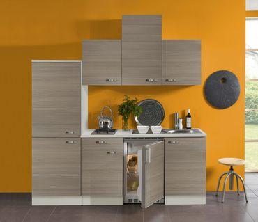 Singleküche TOLEDO - Vario 2 - Glaskeramik-Kochfeld - Breite 210 cm - Pinie