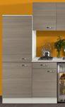 Singleküche TOLEDO - Vario 1 - Glaskeramik - 9-teilig - Breite 210 cm - Pinie