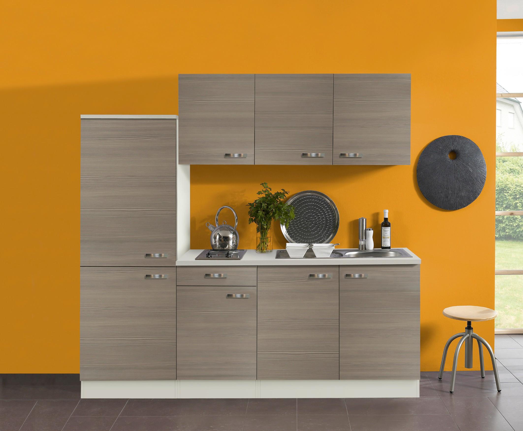 Miniküche Mit Kühlschrank Spüle Rechts : Singleküche toledo vario 2 elektro 9 teilig breite 210 cm