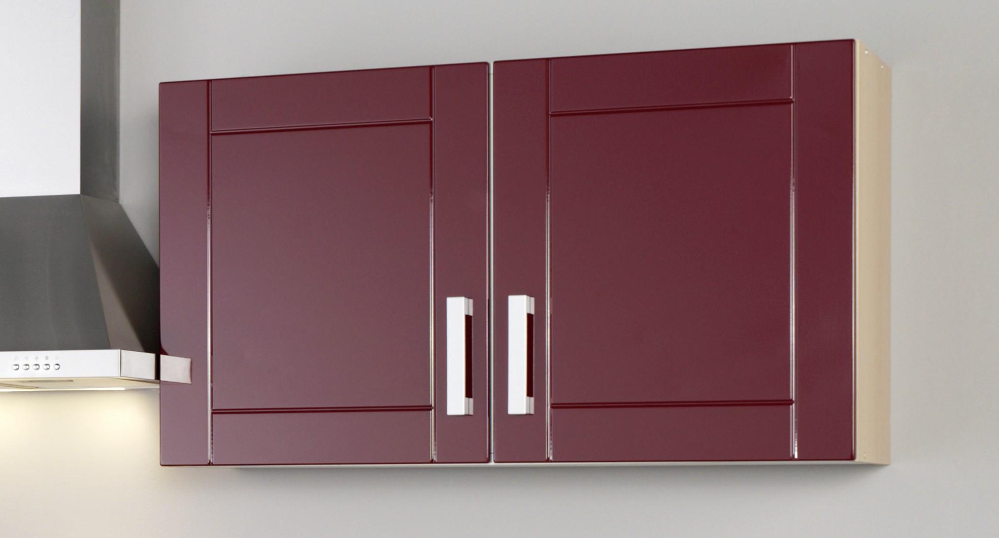 k chenblock ohne ger te einbauk che ohne elektroger te k chenzeile 210 cm rot ebay. Black Bedroom Furniture Sets. Home Design Ideas