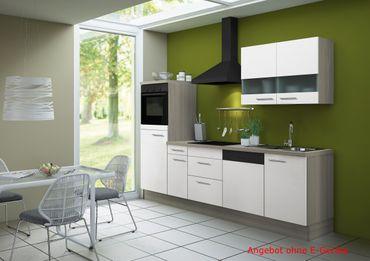 Küchenzeile CADIZ - Vario 5 - Küchen-Leerblock - Breite 270 cm - Weiß