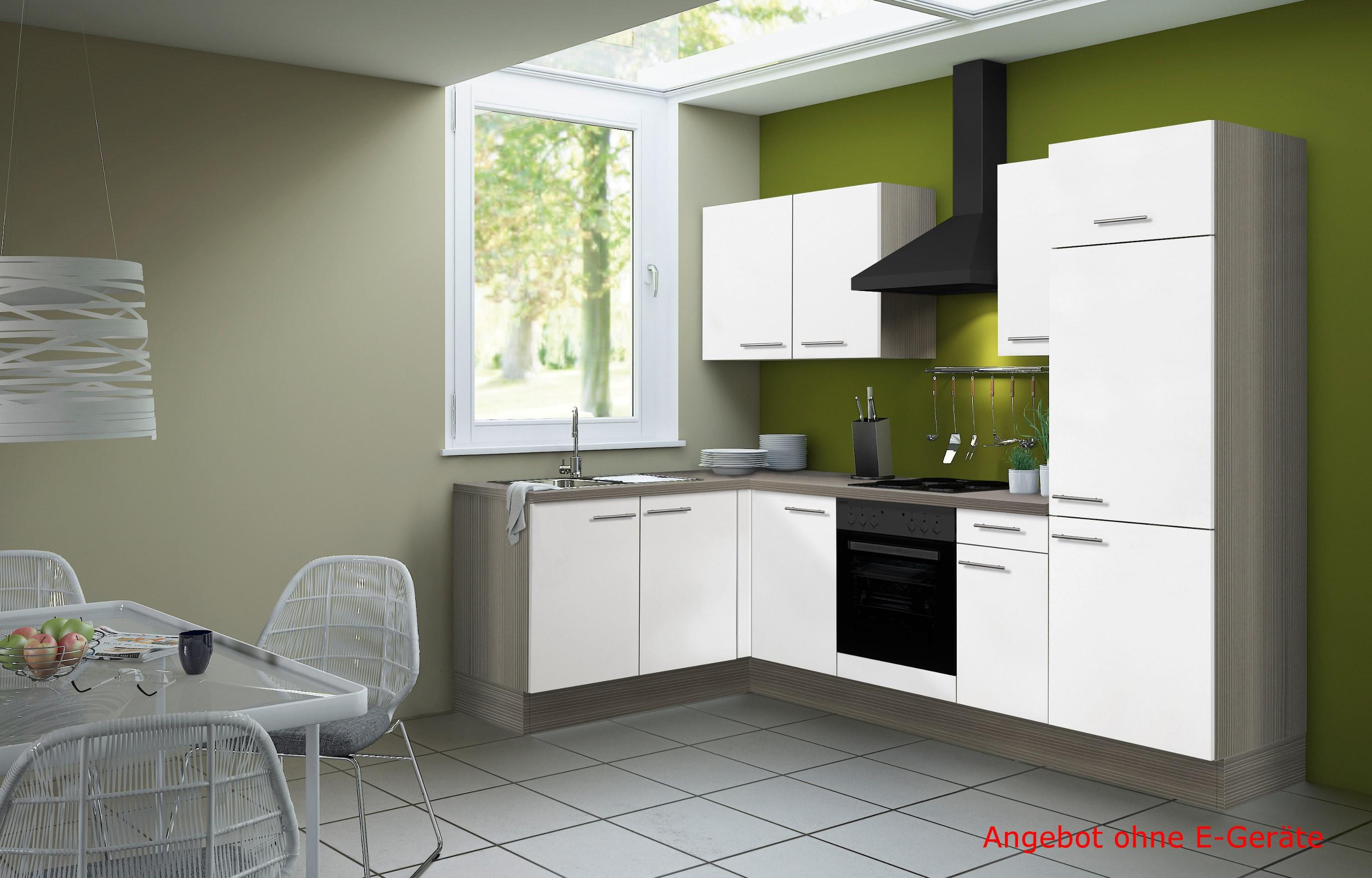 Eckküche CADIZ - Vario 1 - L-Küche ohne E-Geräte - Breite 270 x 165 ...