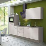 Küchenzeile CADIZ - Vario 3.2 - Küche mit E-Geräten - Breite 270 cm - Beige