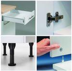Eckküche CADIZ - Vario 1 - L-Küche ohne E-Geräte - Breite 270 x 165 cm - Beige