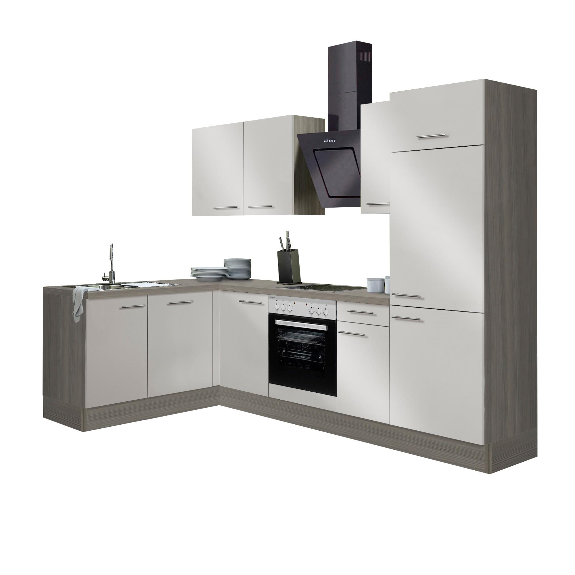 eckk che cadiz vario 2 2 k che mit e ger ten breite 270 x 175 cm beige k che k chenzeilen. Black Bedroom Furniture Sets. Home Design Ideas