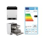 Küchenzeile LEON - Vario 2.2 - Küche mit E-Geräten - Breite 210 cm - Weiß