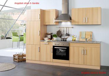 Küchenzeile VAREL - Küchen-Leerblock - Breite 270 cm - Buche