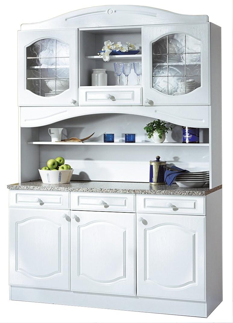 Buffetschränke  Küchen-Buffetschrank LIST - 150 cm breit - Weiß Küche Küchen ...