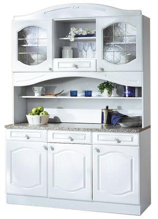 Küchen-Buffetschrank LIST - 150 cm breit - Weiß