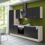 Küchenzeile LEON - Vario 2.2 - Küche mit E-Geräten - Breite 270 cm - Braun
