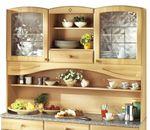 Küchenbuffet-Schrank RAUTE - 150 cm breit - Buche