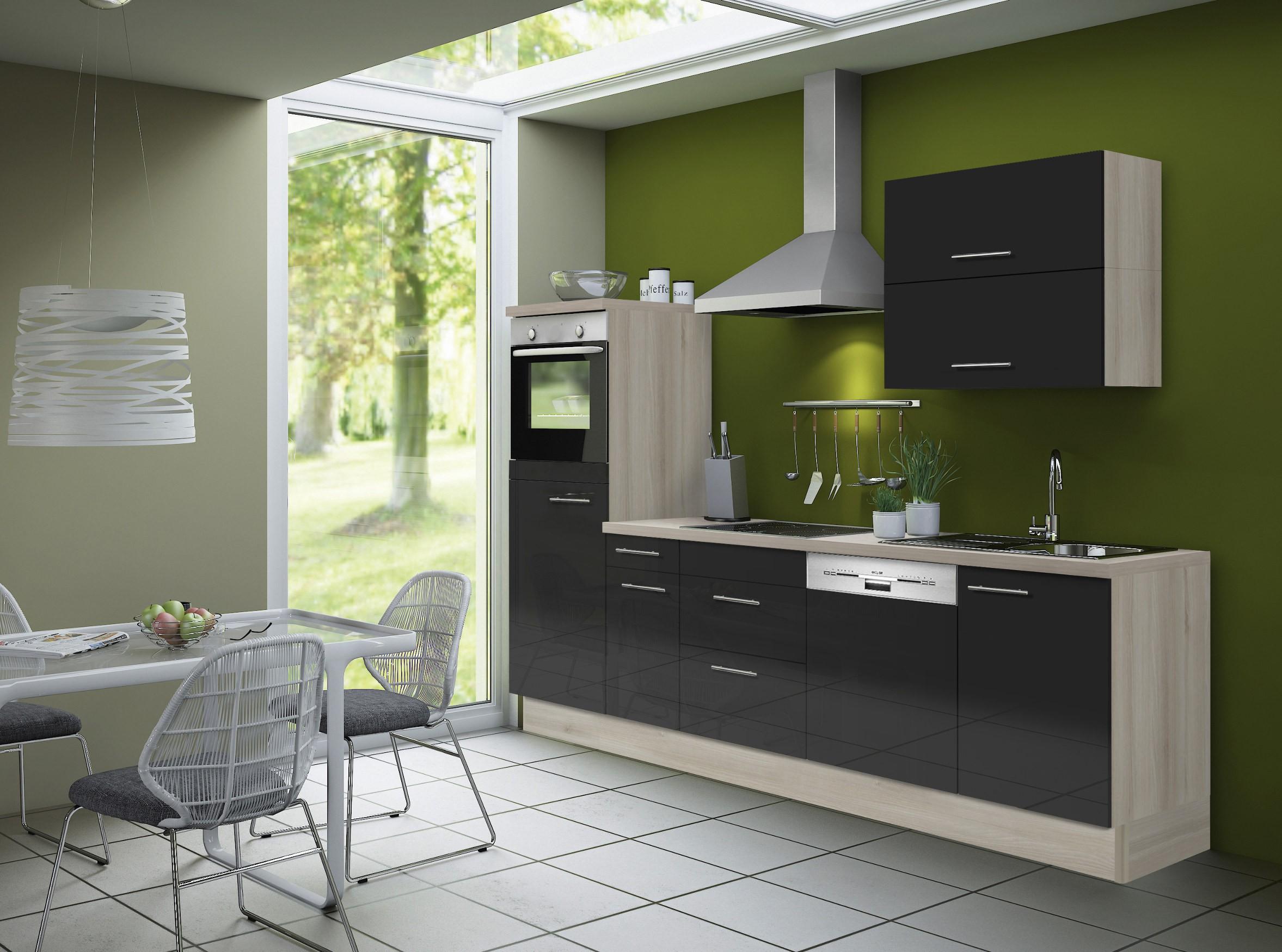 Küchenzeile LEON - Vario 4 - Küche mit E-Geräten - Breite 270 cm ...