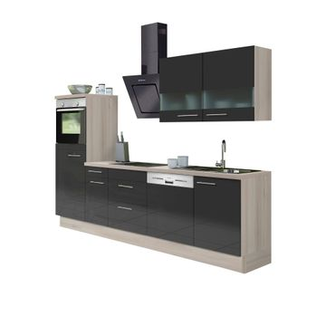 k chenzeile leon vario 5 1 k che mit e ger ten breite 270 cm braun k che k chenzeilen. Black Bedroom Furniture Sets. Home Design Ideas
