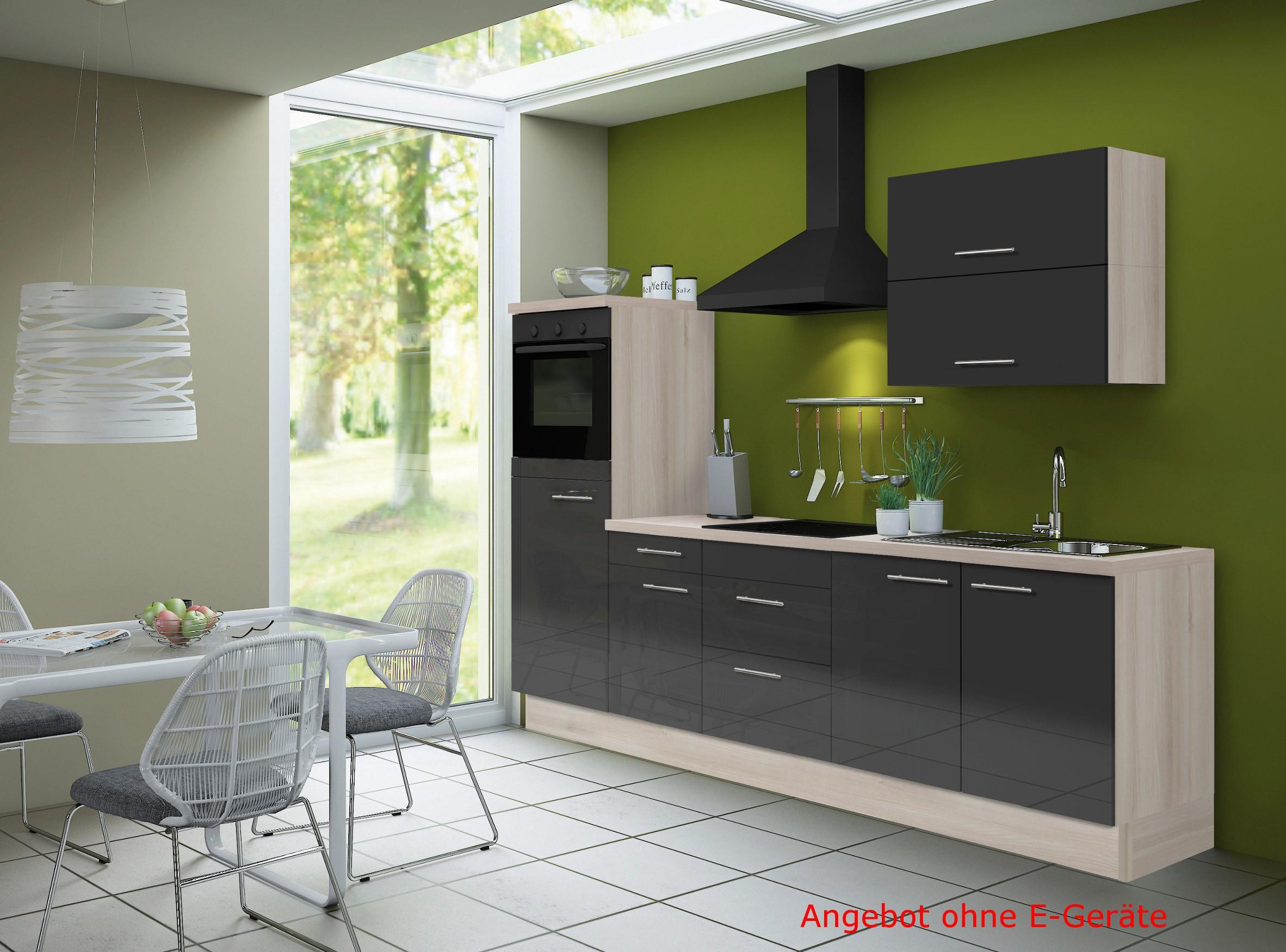 k chenzeile leon vario 7 k chen leerblock breite 270. Black Bedroom Furniture Sets. Home Design Ideas