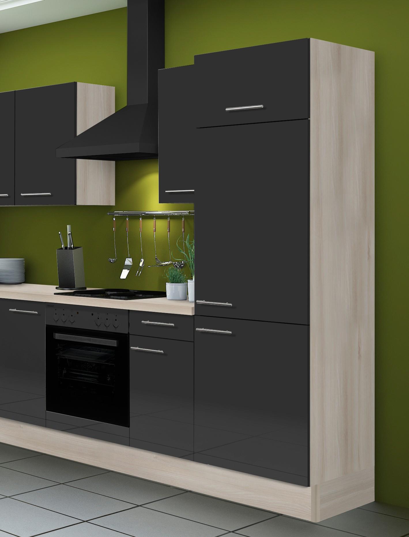 eckk che leon vario 1 l k che ohne e ger te breite 270 x 165 cm braun k che k chenzeilen. Black Bedroom Furniture Sets. Home Design Ideas
