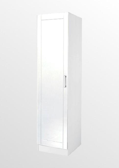 Hochschrank küche weiß  Küchen-Hochschrank VAREL - 1-türig - 50 cm breit - Hochglanz Weiß ...