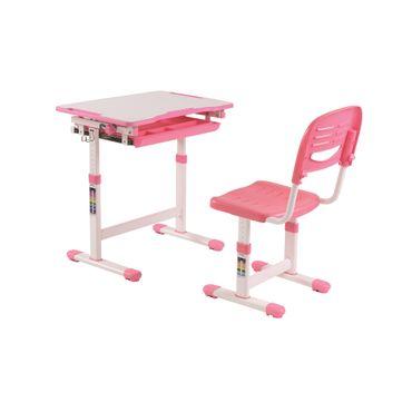 Kinder-Schreibtischset COMFORTLINE - höhenverstellbar - mit Stuhl - Rosa