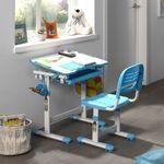 Kinder-Schreibtischset COMFORTLINE - höhenverstellbar - mit Stuhl - Blau
