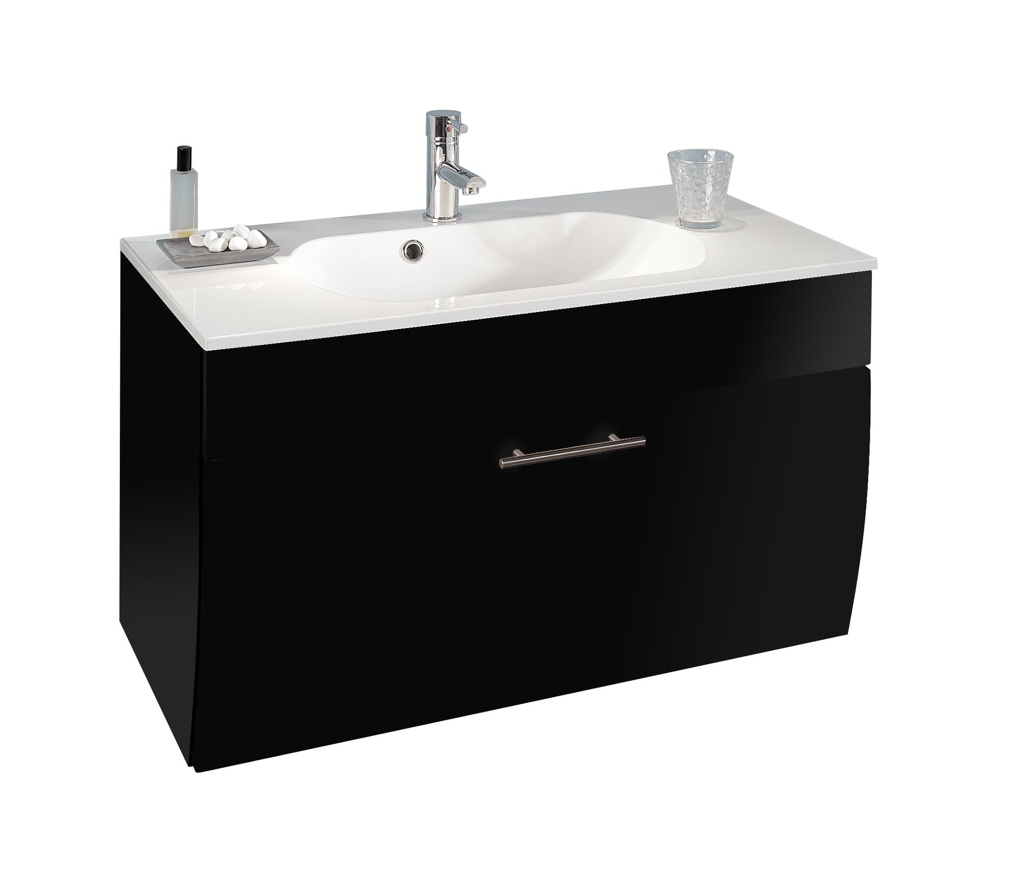 bad waschtisch salona 1 klappe 90 cm breit grau bad waschtische. Black Bedroom Furniture Sets. Home Design Ideas