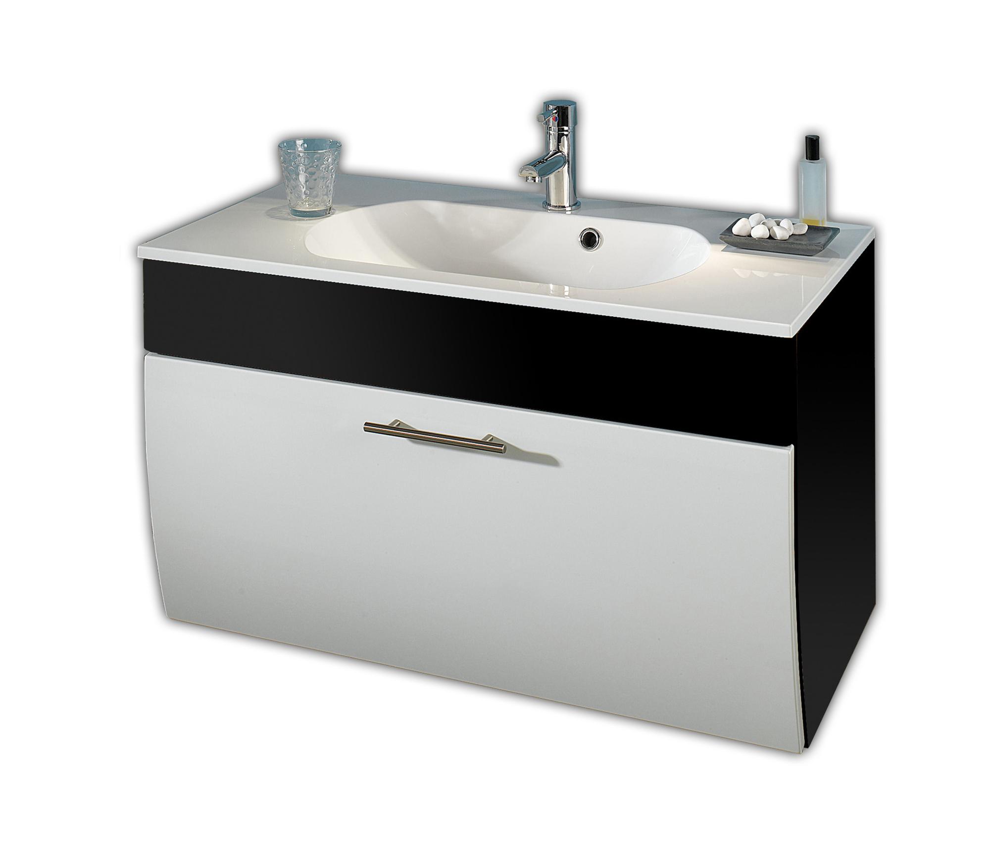 bad waschtisch salona 1 klappe 90 cm breit wei grau bad waschtische. Black Bedroom Furniture Sets. Home Design Ideas