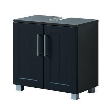 Bad-Waschbeckenunterschrank BAROLO - 2-türig - 60 cm breit - Grau Matt