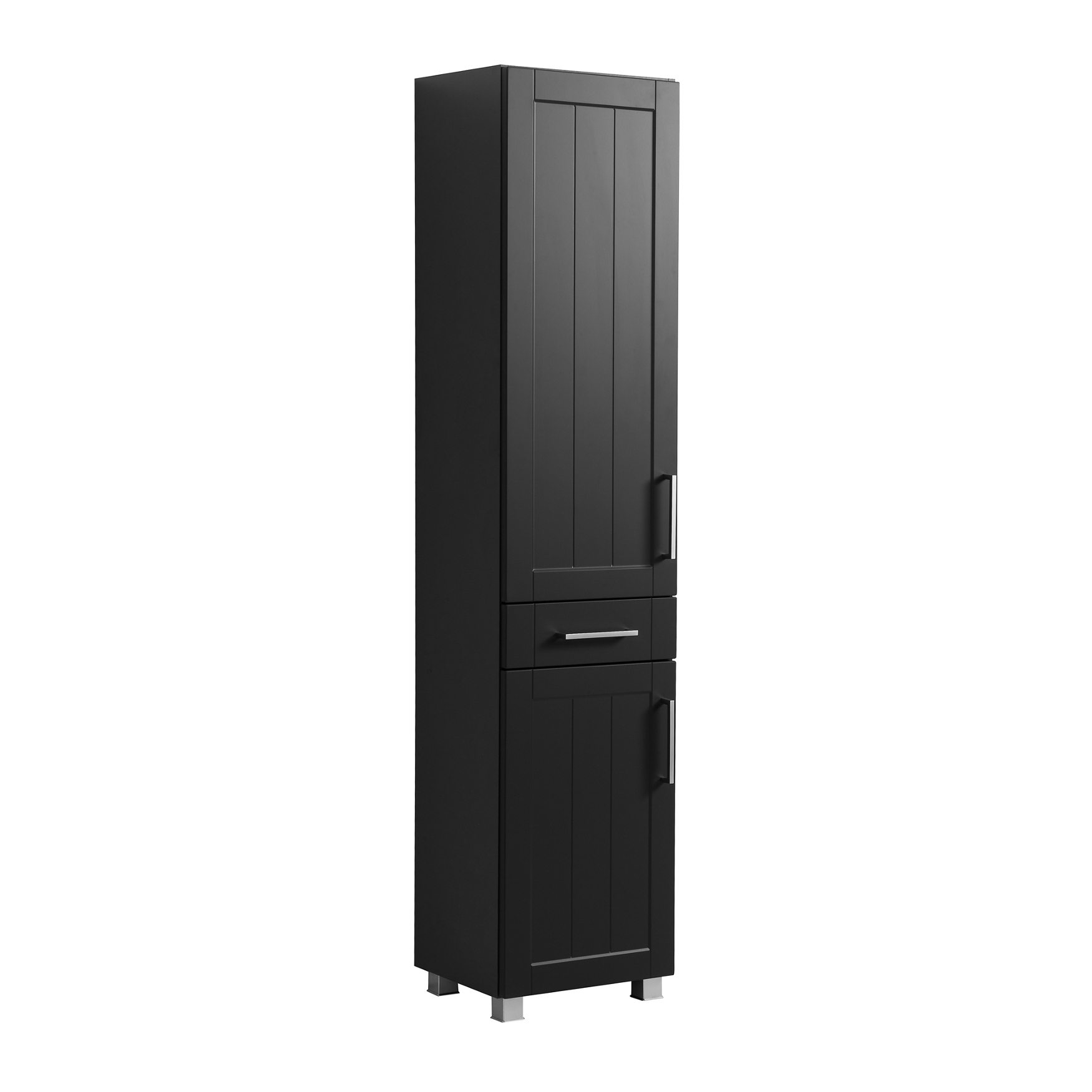 bad hochschrank barolo 2 t rig 1 schublade 40 cm breit grau matt ebay. Black Bedroom Furniture Sets. Home Design Ideas