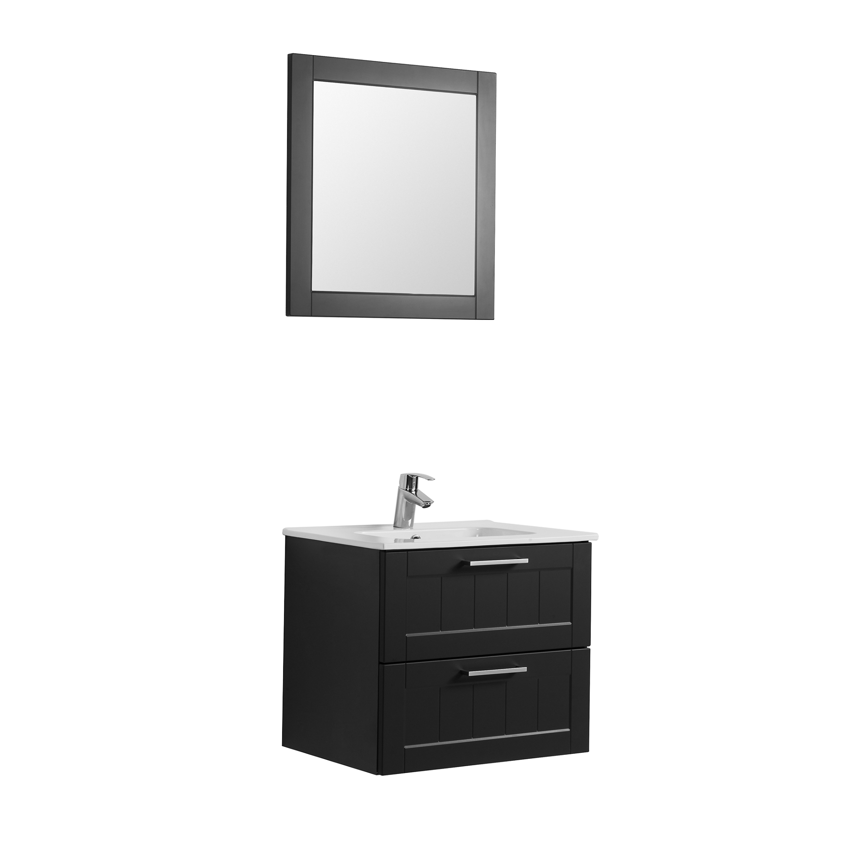 waschtisch 60 cm breit badm bel set cardiff mit. Black Bedroom Furniture Sets. Home Design Ideas
