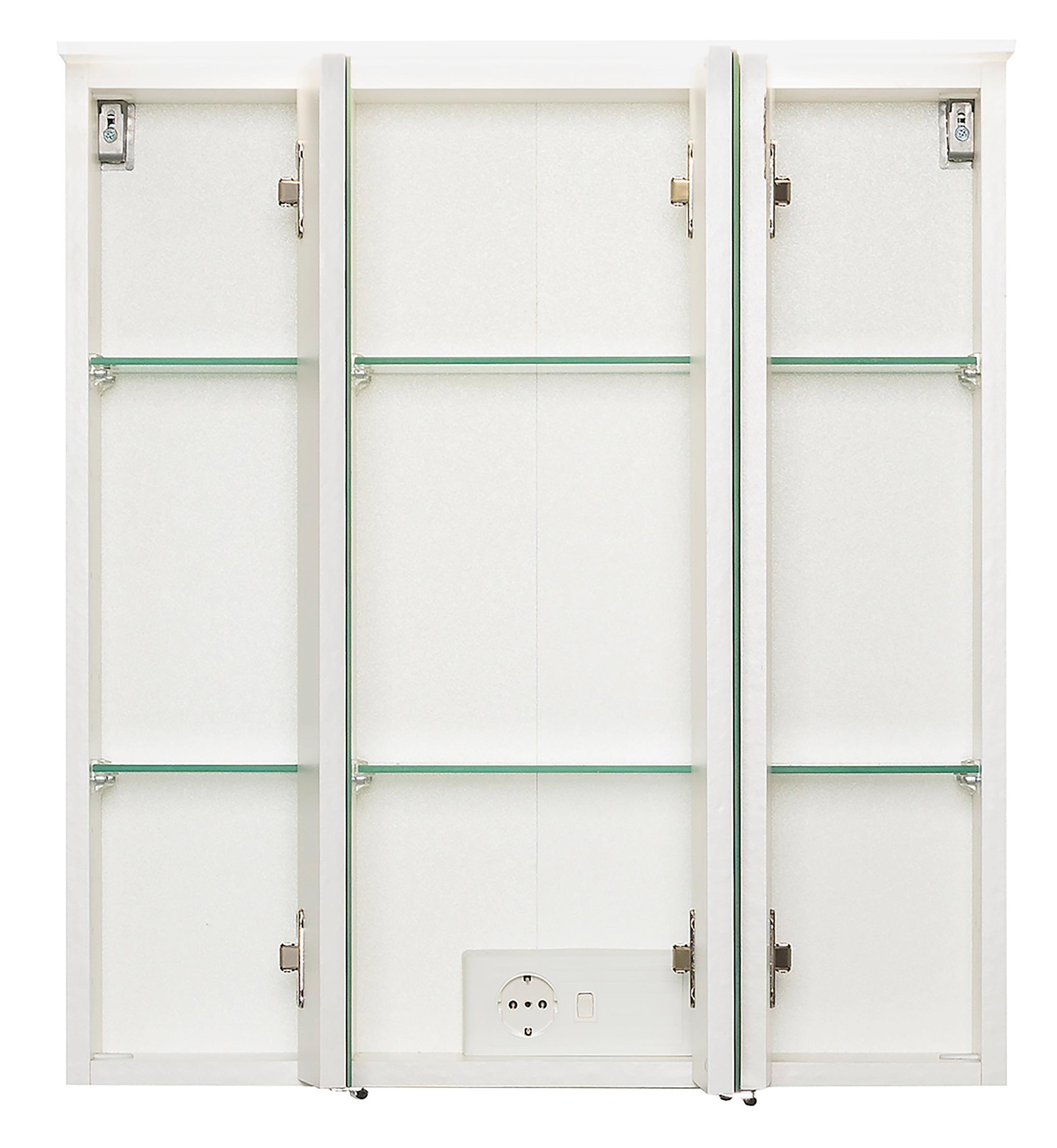 bad spiegelschrank 3 t rig mit beleuchtung 60 cm breit wei bad spiegelschr nke. Black Bedroom Furniture Sets. Home Design Ideas