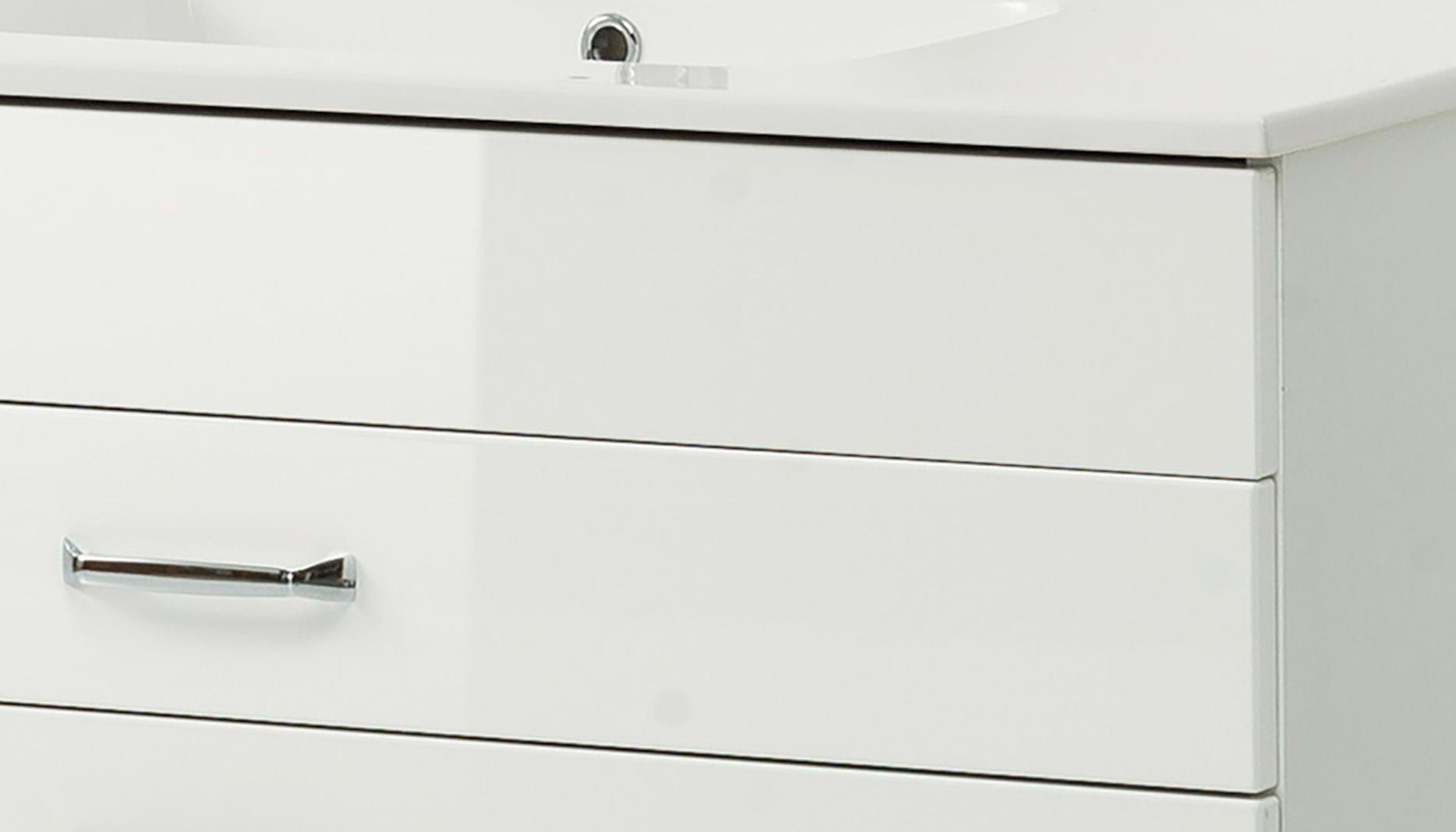 waschtisch mit unterschrank 100 cm waschbeckenunterschrank becken hochglanz wei ebay. Black Bedroom Furniture Sets. Home Design Ideas