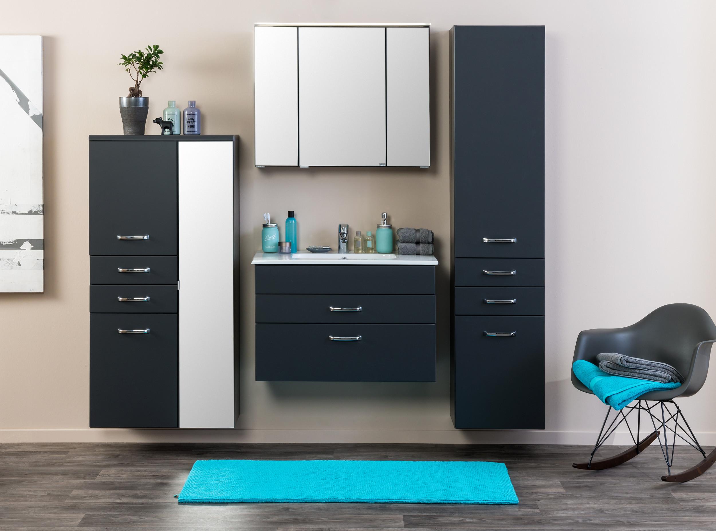 bad waschtisch fontana mit keramikbecken 80 cm breit anthrazit bad waschtische. Black Bedroom Furniture Sets. Home Design Ideas