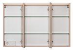 Badmöbel-Set FONTANA - mit Keramikbecken - 4-teilig - 100 cm breit - Buche