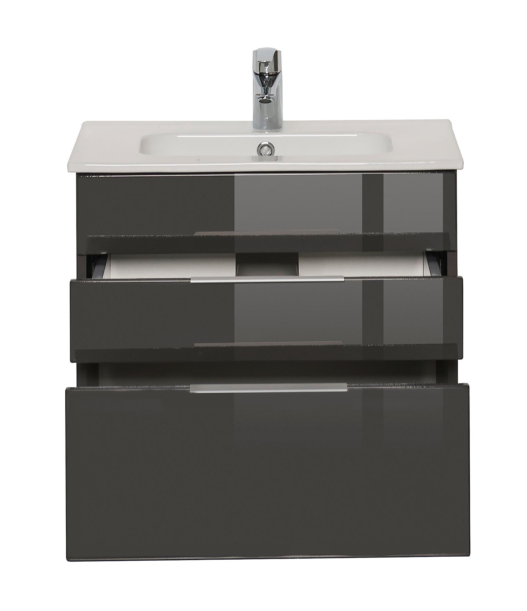 bad waschtisch ravello mit keramikbecken 60 cm breit grau bad waschtische. Black Bedroom Furniture Sets. Home Design Ideas