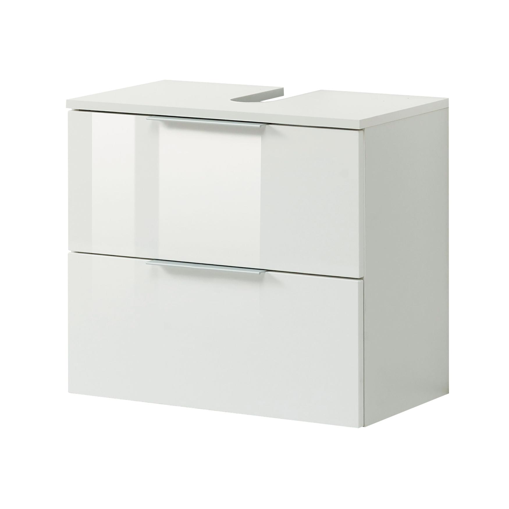 bad waschbeckenunterschrank ravello 1 klappe 1 auszug 60 cm breit wei bad. Black Bedroom Furniture Sets. Home Design Ideas