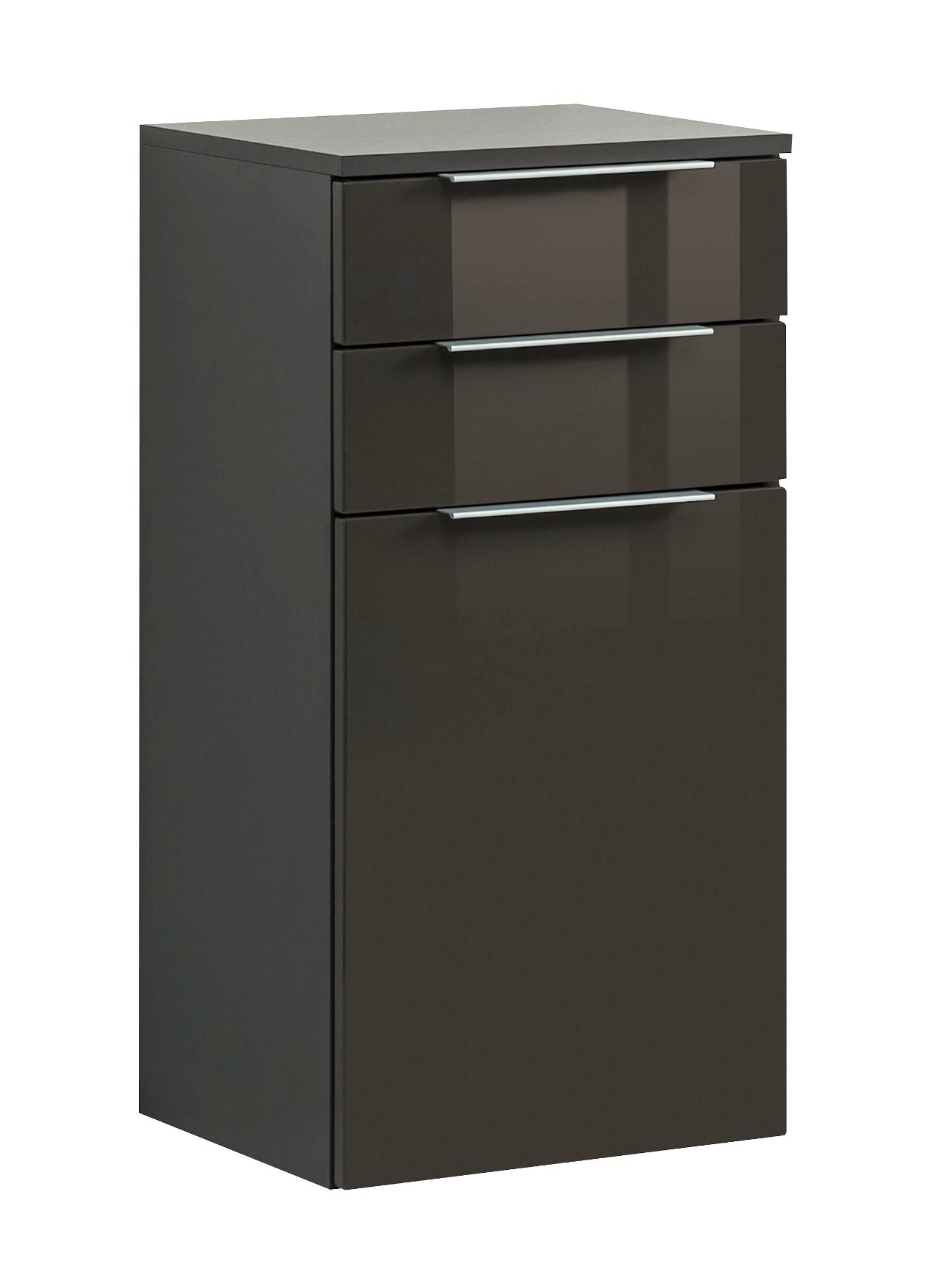 bad unterschrank ravello 1 t rig 2 schubladen 40 cm breit grau bad bad unterschr nke. Black Bedroom Furniture Sets. Home Design Ideas