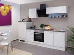 Küchen-Spülenschrank LUCCA - 2-türig - 100 cm breit - Weiß