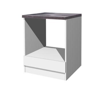 Küchen-Herdumbauschrank LUCCA - 60 cm breit - Weiß