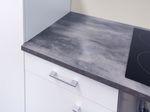 Küchenzeile LUCCA mit Design-Dunstabzugshaube, 13-teilig - Breite 270 cm - Weiß