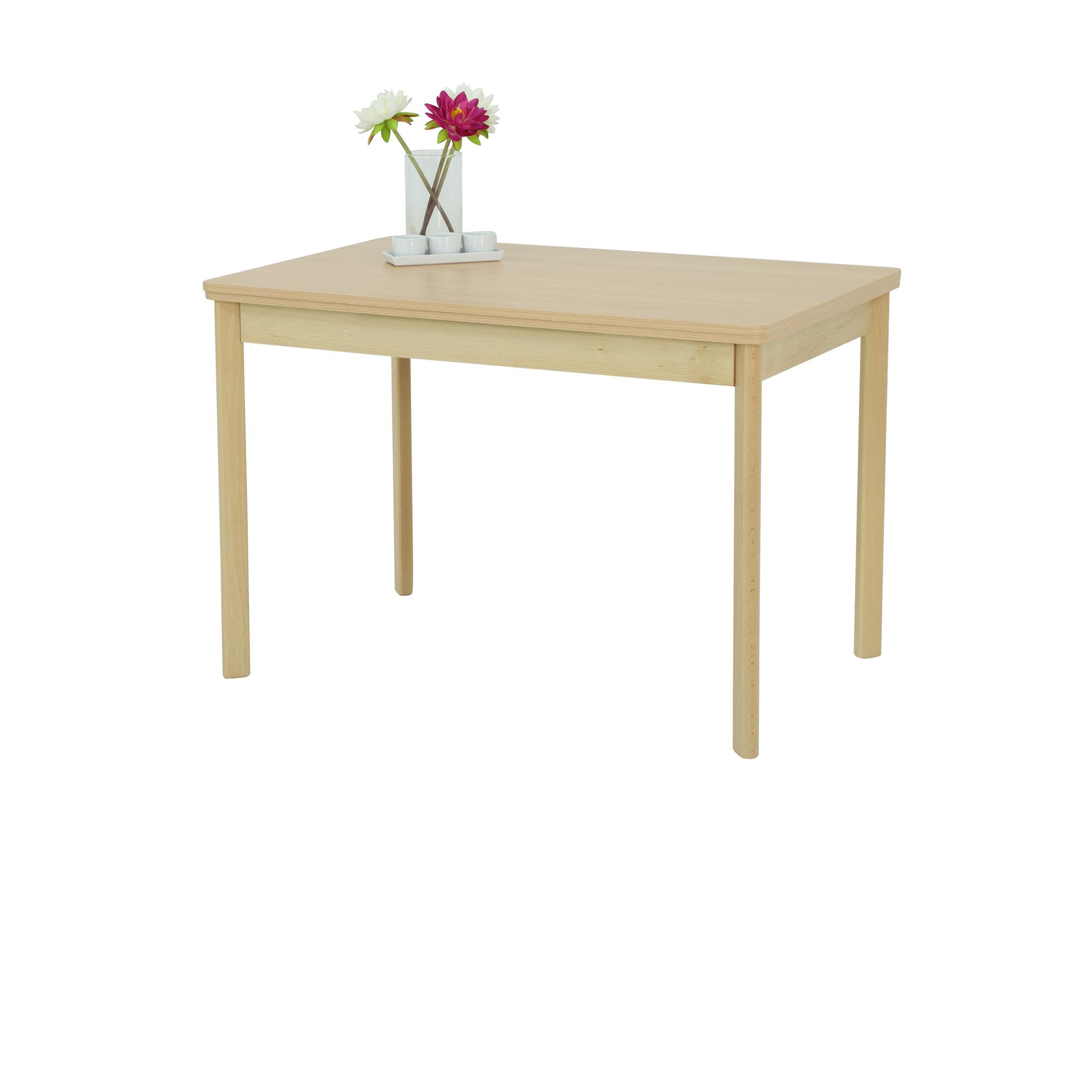 Esstisch Bremen Ii Tischplatte Ausziehbar 90 X 65 Cm Buche