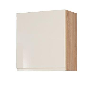 Küchen-Hängeschrank CARDIFF - 1-türig - 50 cm breit - Hochglanz Creme