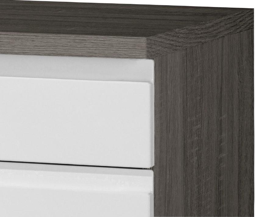 k chen unterschrank cardiff k chenschrank mit schubladen 50cm weiss vintage ebay. Black Bedroom Furniture Sets. Home Design Ideas